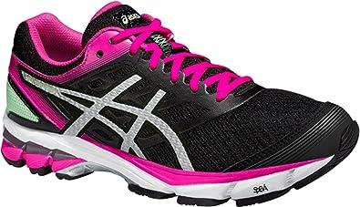 Asics Gel Stratus 2 Noire Et Rose Chaussures Running femme
