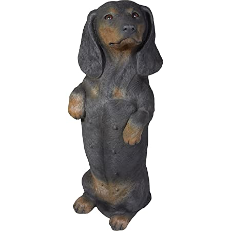 Garden NEW Sitting DACHSHUND Puppy Dog Life Like Figurine Statue Home