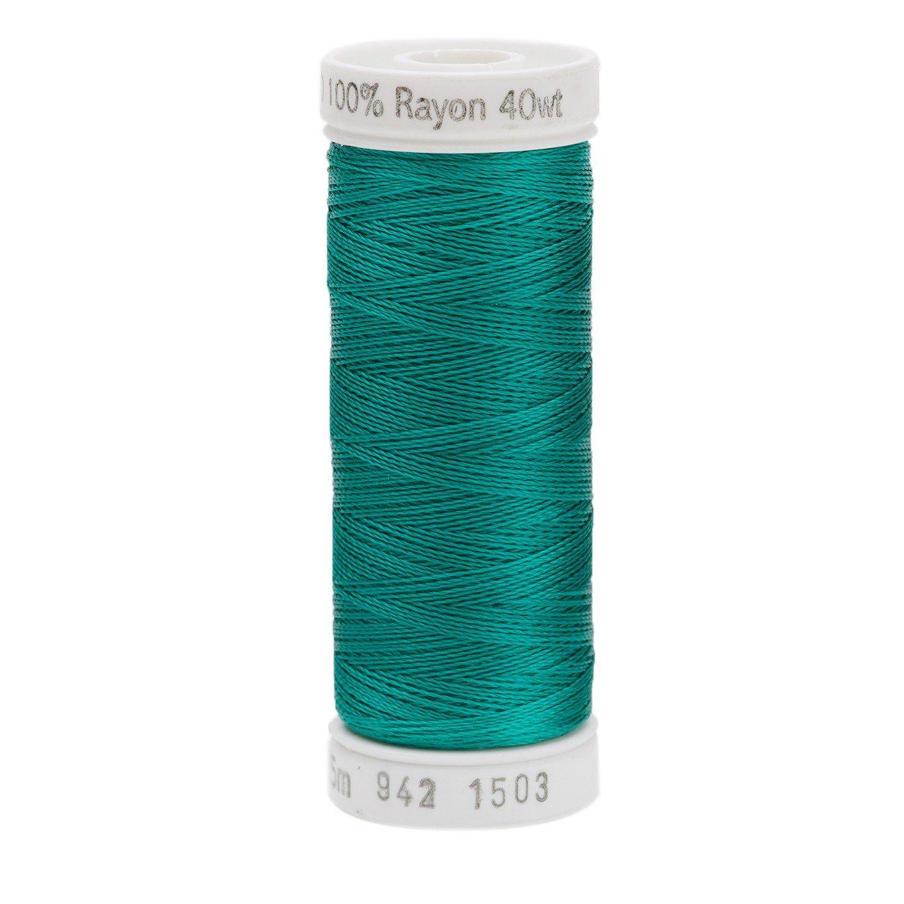 不機嫌そうなレーヨン糸 40 重量 250 ヤード グリーンの孔雀   B00114OR2Q