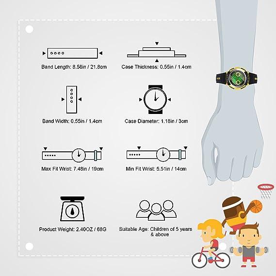 Hiwatch Reloj Multifuncional LED Digital a Prueba de Agua Relojes para los Niños Amarillo: Amazon.es: Relojes
