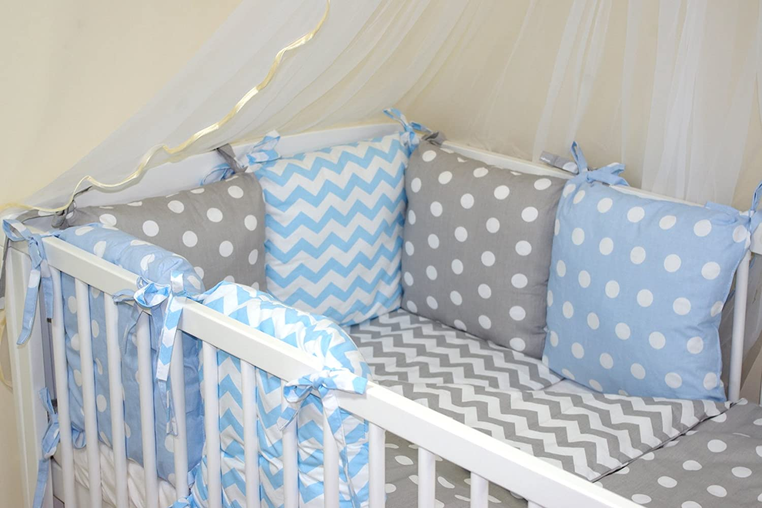 Baby bed and pillow - New 8 Pcs Baby Bedding Set For Cot Cotbed With Pillow Bumper 28 54 Colours 54 Amazon Co Uk Baby