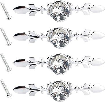 inklusive Schrauben Schubladenknauf in Diamantform 25 mm Style#1 Zinklegierung 10er Pack