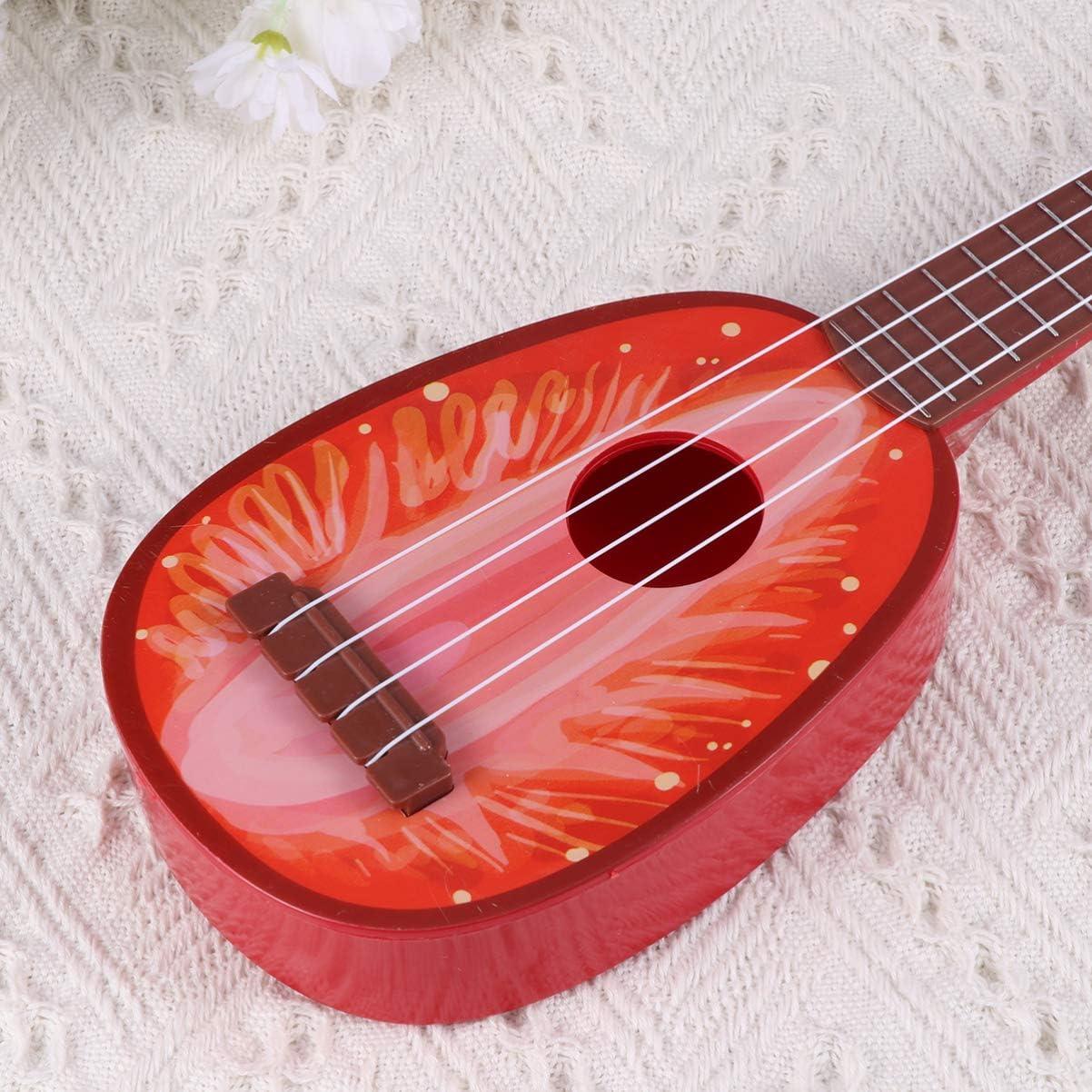 HEALLILY Kiwi Forma Carina Frutta Ukulele Chitarra Giocattolo per Bambini Giocattolo per Bambini Chitarra per Bambini Giocattolo per Bambini Chitarra Verde Taglia L