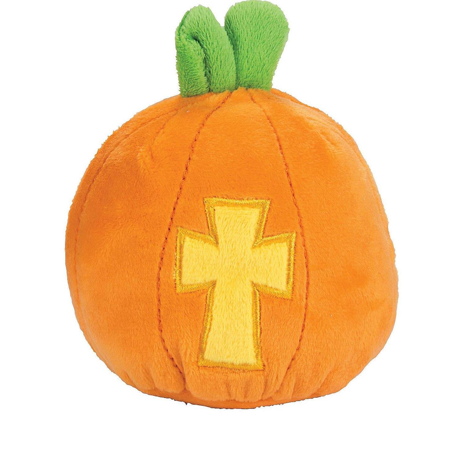 Bargain World Christian Plush Pumpkins (With Sticky Notes)