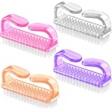 Handle Grip Nail Brush, Larbois Fingernail Scrub Cleaning Brushes for Toes and Nails Cleaner Pedicure Brushes for Men and Wom
