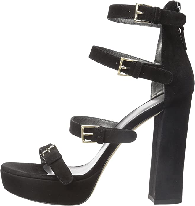 0a25efa0bf3 Stuart Weitzman Women s Fourbucks Black Suede Sandal 4 M  Buy Online at Low  Prices in India - Amazon.in