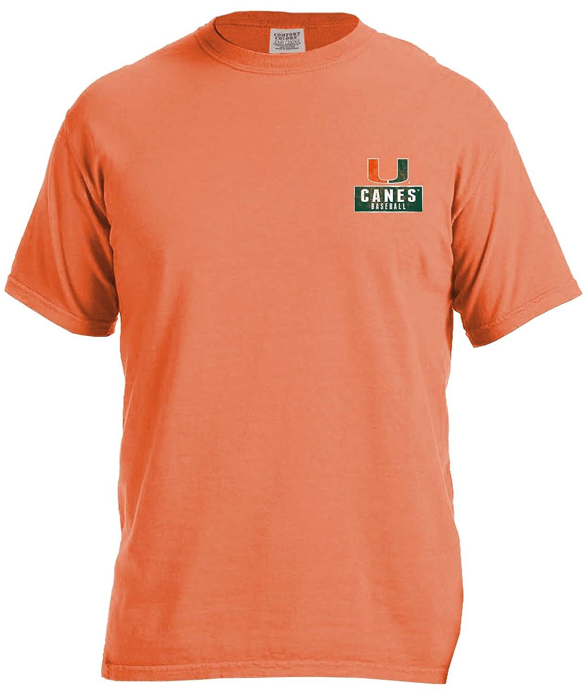 Image One Adult Unisexs NCAA Vintage Baseball Flag Short Sleeve Comfort Color Tee