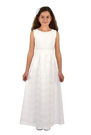 963b2e99a208 Verasposa - Robe - Uni - Fille Ecru Ecru  Amazon.fr  Vêtements et ...