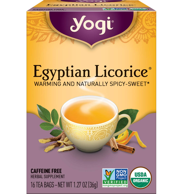 Yogi Tea - Egyptian Licorice (6 Pack) - Warming and Naturally Spicy Sweet - 96 Tea Bags