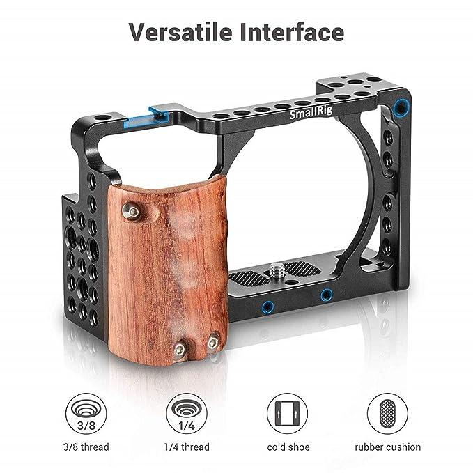 SMALLRIG a6300 Cage con Wooden Handgrip para Sony a6300 / a6000 ...