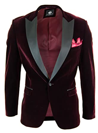 Veste Bordeaux Paul Style Grenat Velours Andrew Doux Blazer Homme RYwZq56wz