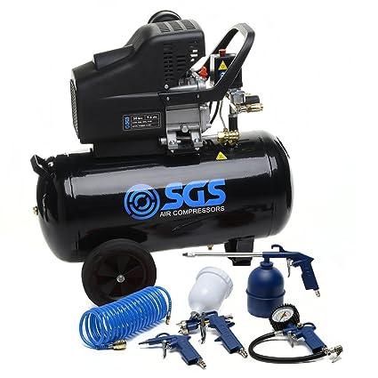 Compresor de aire de 50litros y kit de herramientas, ...