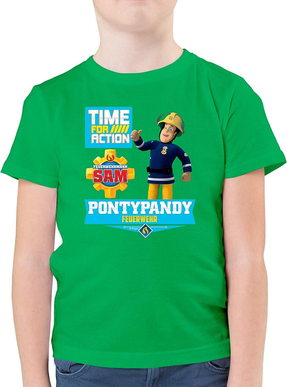 Feuerwehrmann Sam Jungen Shirtracer Kinder Pullover Pontypandy Feuerwehr Time for Action