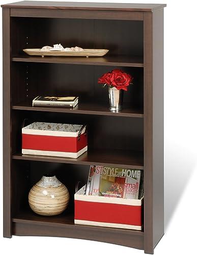 Espresso 4-shelf Bookcase