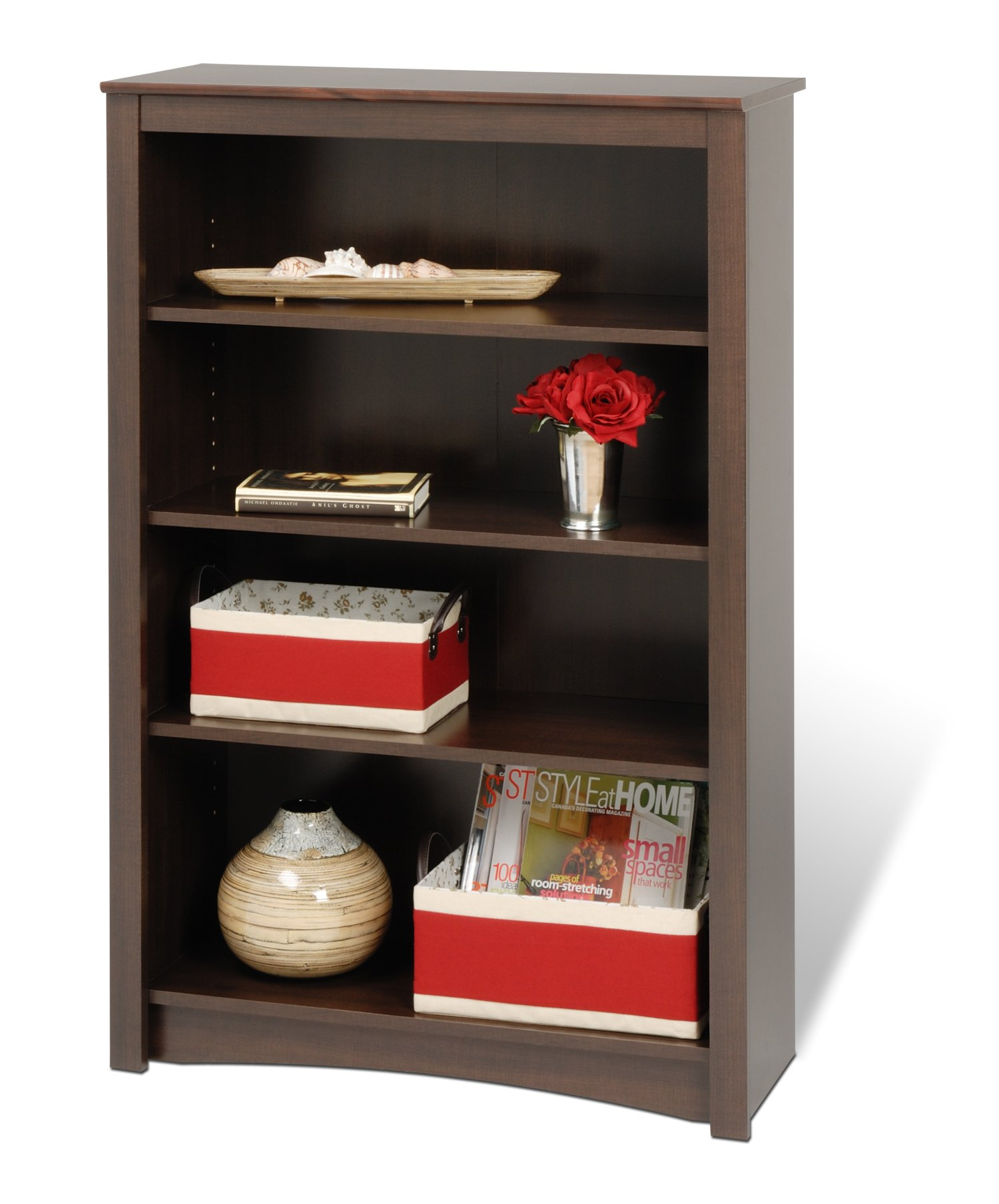 Espresso 4-shelf Bookcase by Prepac
