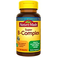 Nature Made Super B-Complex Tablets, 60 Count for Metabolic Health† (Packaging May...