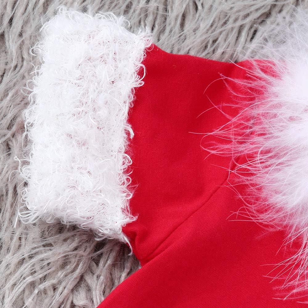 Vinjeely Xmas Fluffy Tops+Tutu Dress Toddler Girls Christmas Skirt Set