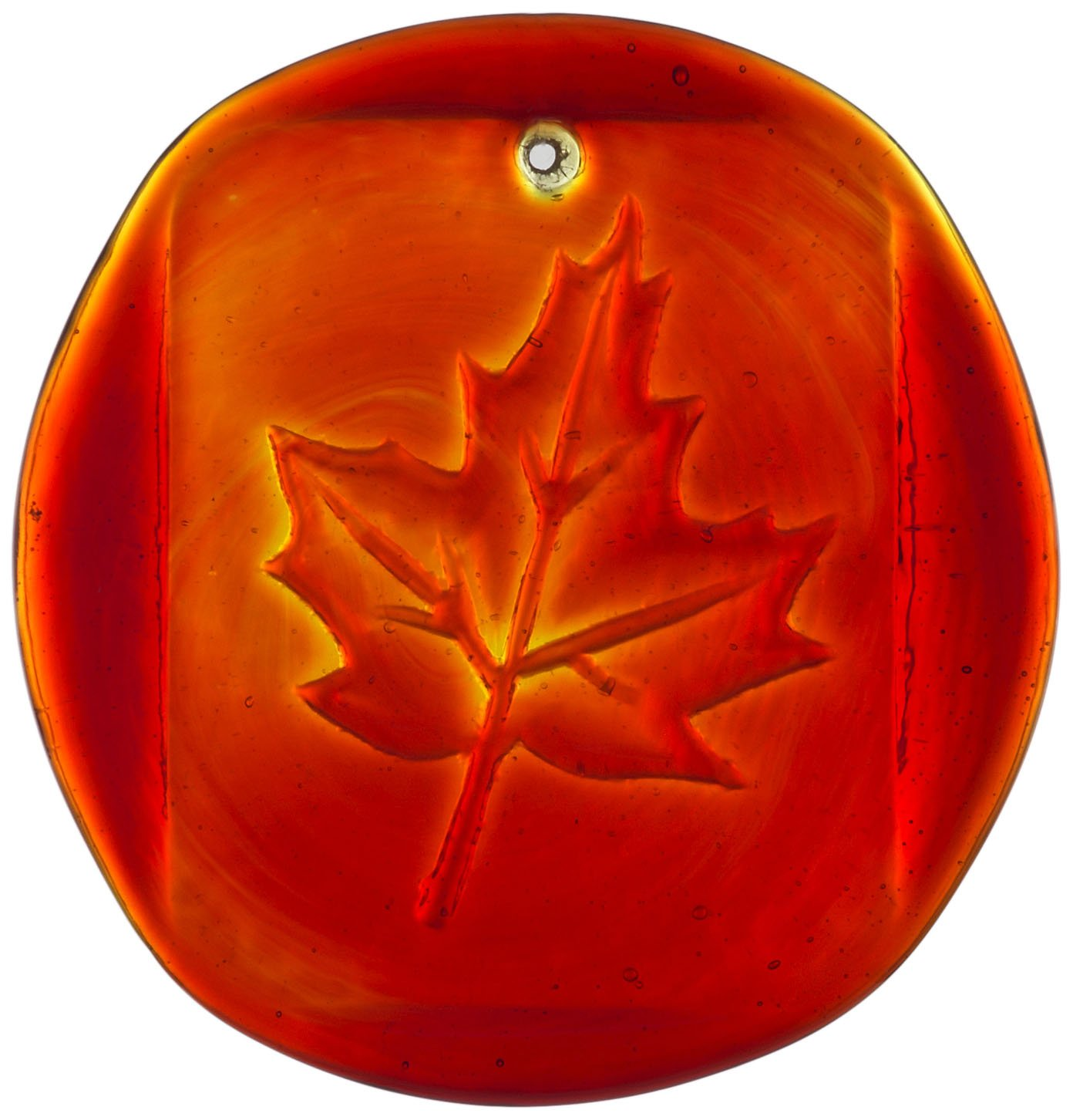 Kitras Maple Leaves Suncatcher, Red