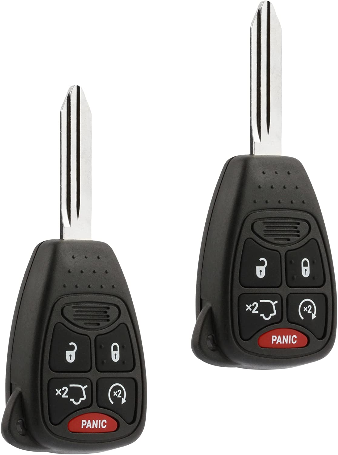 Key Fob fits Chrysler 200 300 300c PT Cruiser Sebring//Dodge Avenger Charger//Jeep Commander Grand Cherokee Liberty Keyless Entry Remote 2006 2007 2008 2009 2010 2011 2012 2013 2014 OHT692427AA
