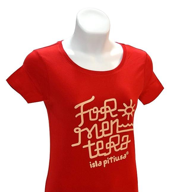 DONSOUVENIR Camiseta Formentera · Mujer · 100% Algodon ORGANICO · Medium FIT · MR. MAU T-Shirt: Amazon.es: Ropa y accesorios