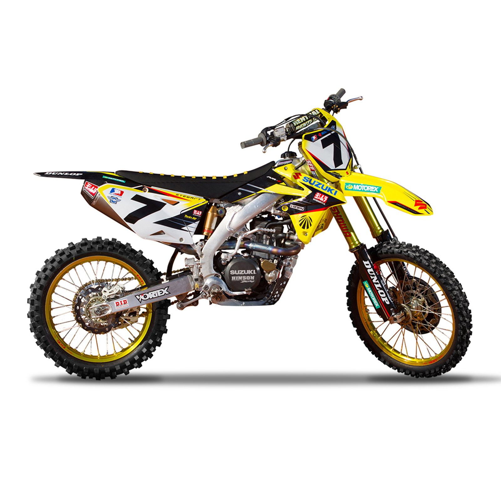 Enjoy MFG 2001-2017 RM 125 RM 250 Team Yoshimura Suzuki Graphics Kit