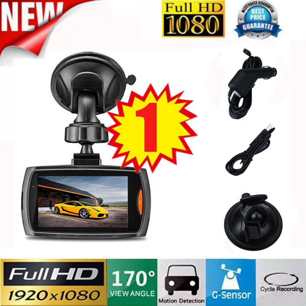 Kingfansion 2.2' Full HD 1080P Dash Cam, 170 Degree Wide Angle, Dash Cameras for Cars with Night Vision, Dashboard Camera Car Driving Recorder DVR
