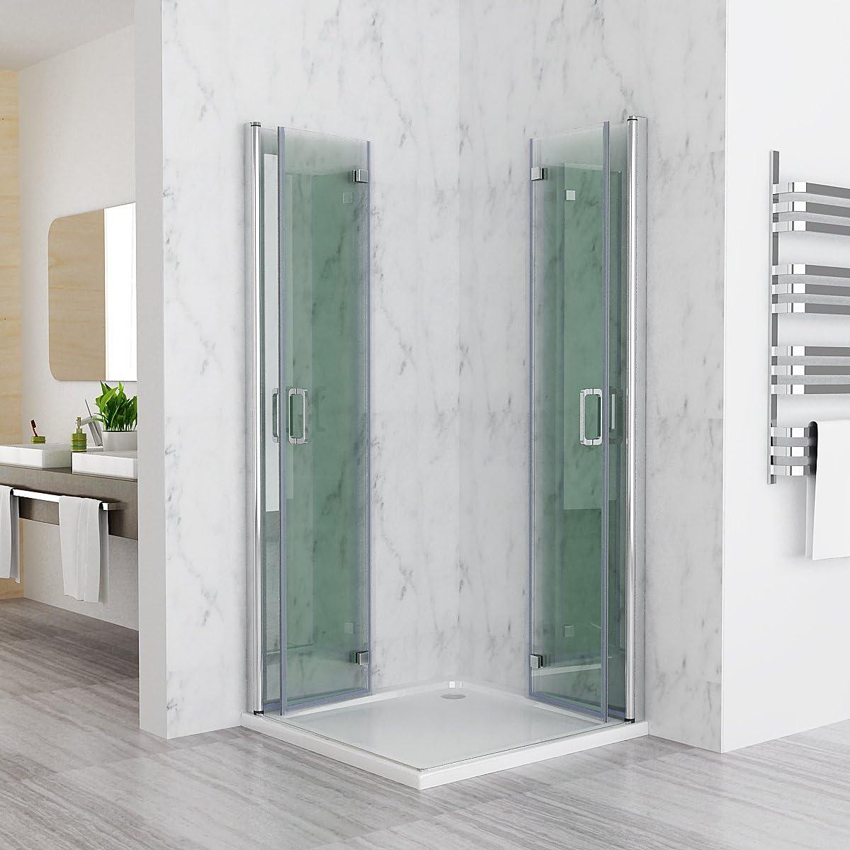 120 x 100 x 197 cm Mampara de ducha esquina. Ducha Puerta plegable ducha pared DAP: Amazon.es: Bricolaje y herramientas
