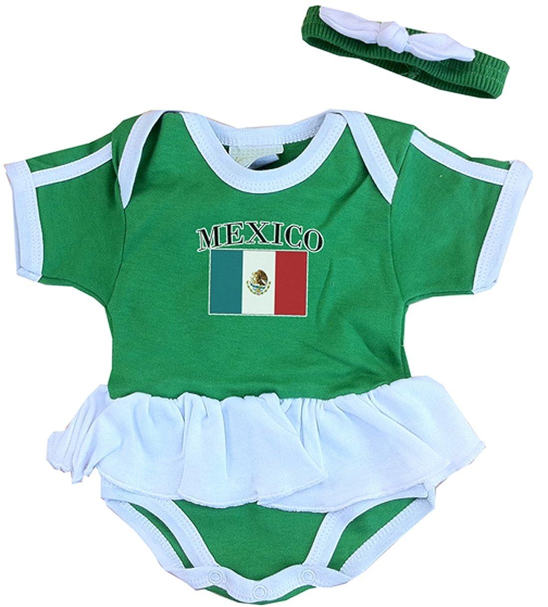cfad064da Amazon.com: PAM Baby Girl Mexico Ruffle Bodysuit: Clothing