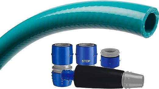 Tatay 9955205 Top Flex - Kit Manguera y Conectores para riego de terraza o jardín, 10 Metros de Largo, 5/8