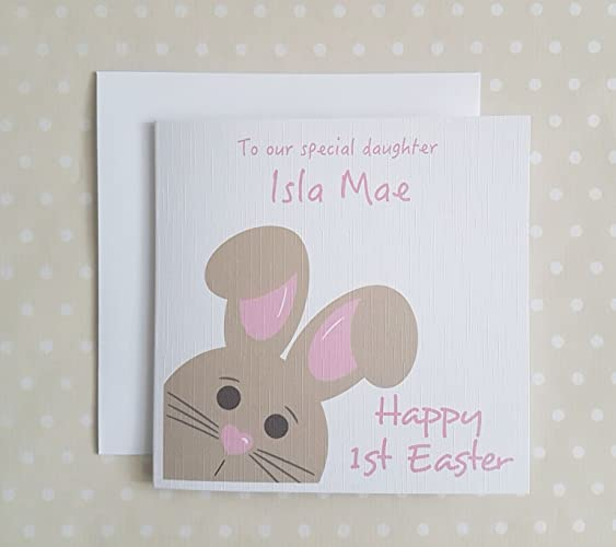 1st easter card personalised first easter card for daughter 1st easter card personalised first easter card for daughter granddaughter goddaughter niece negle Images