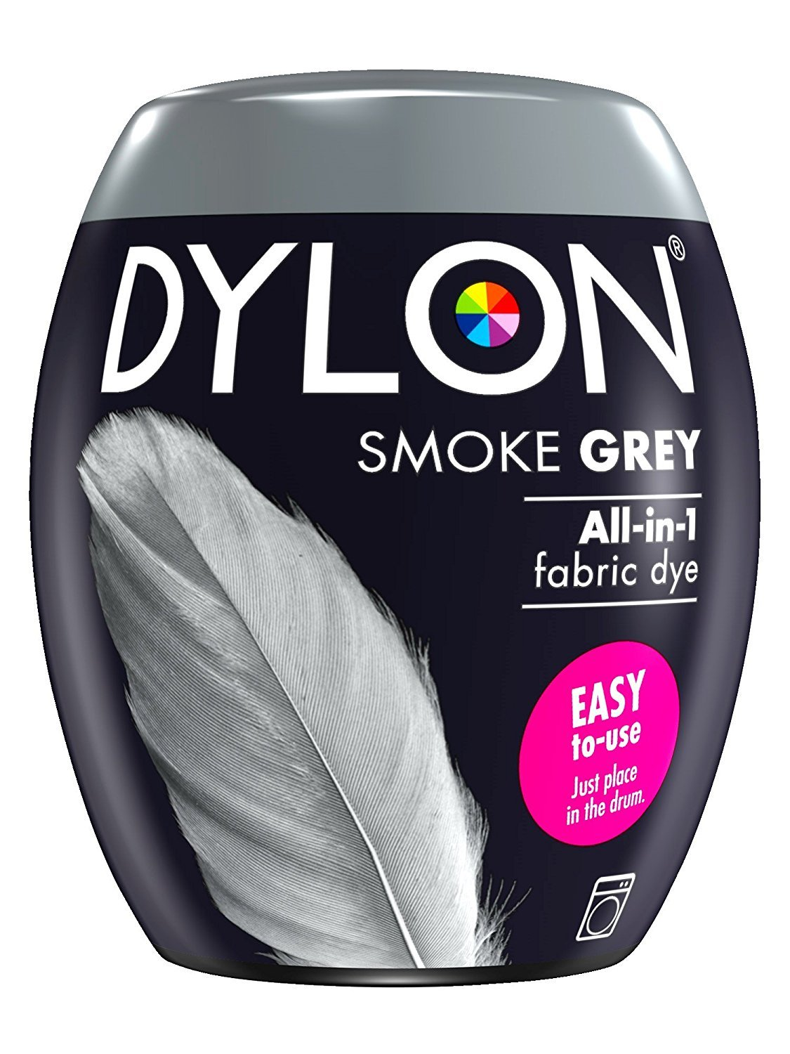 2 x Dylon Fabric Dye Clothes Dye Machine Use 350g Pod - Smoke Grey