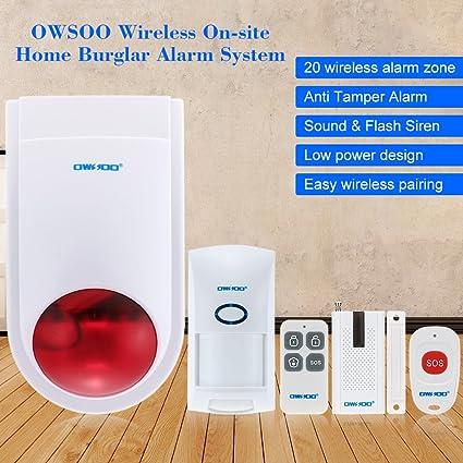OWSOO Sistema de Alarma Inalámbrica On-site Inicio Seguridad ...