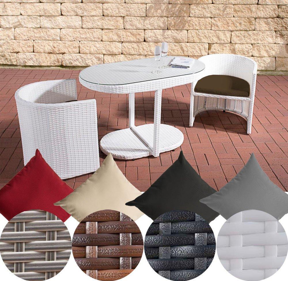 Clp Poly Rattan Balkonmöbel Sitzgruppe Bayamo 2 Personen Aluminium