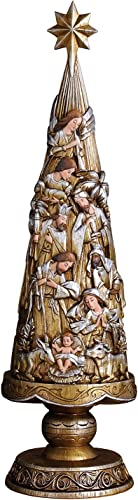 Avalon Gallery Metallic Nativity Christmas Tree Figurine