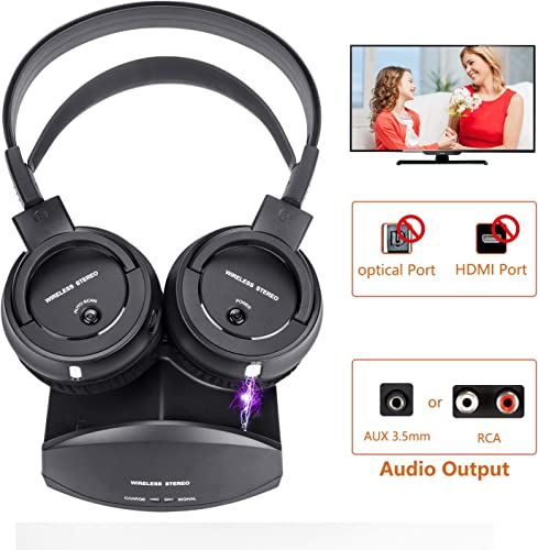 Wireless Headphone for TV Watching,Ansten Over-Ear Headphone with Charging Dock Lightweight Cordless Design for Gaming PC TV iPhone Ipad 25hr Listening,Rechargeable and 50m 164 FT Range