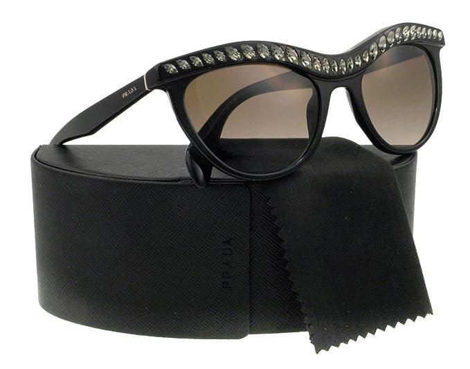 395f28742c Prada Women s 04p Black Frame Brown Gradient Lens Plastic Sunglasses ...