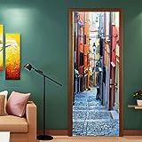 3D Door Decal Door Stickers Decor Door Mural Removable Vinyl Wall Art Door Wall Mural Door Wallpaper for Home Decor
