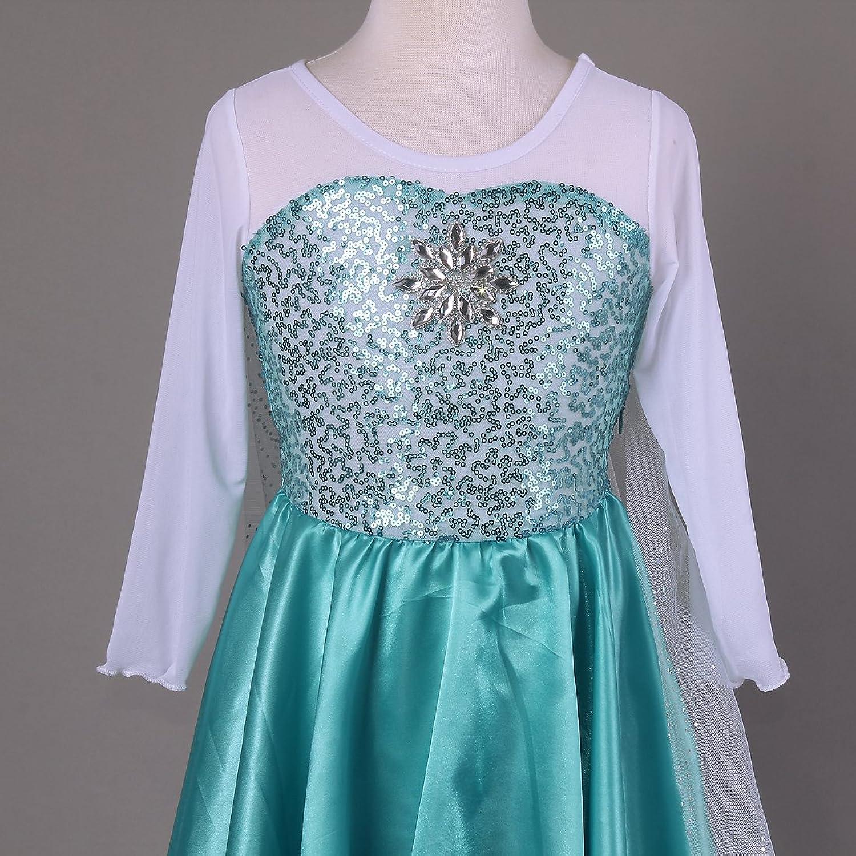 Amazon.com: Pettigirl Girls Cosplay Dress Snowflakes Dress: Clothing
