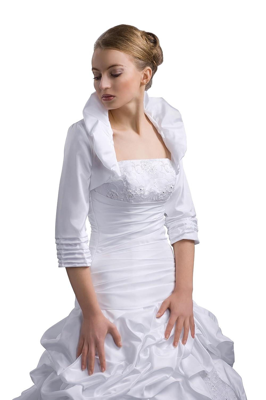 Bolero Jacke für Brautkleid - Braut Jacke Taft - E41: Amazon.de ...