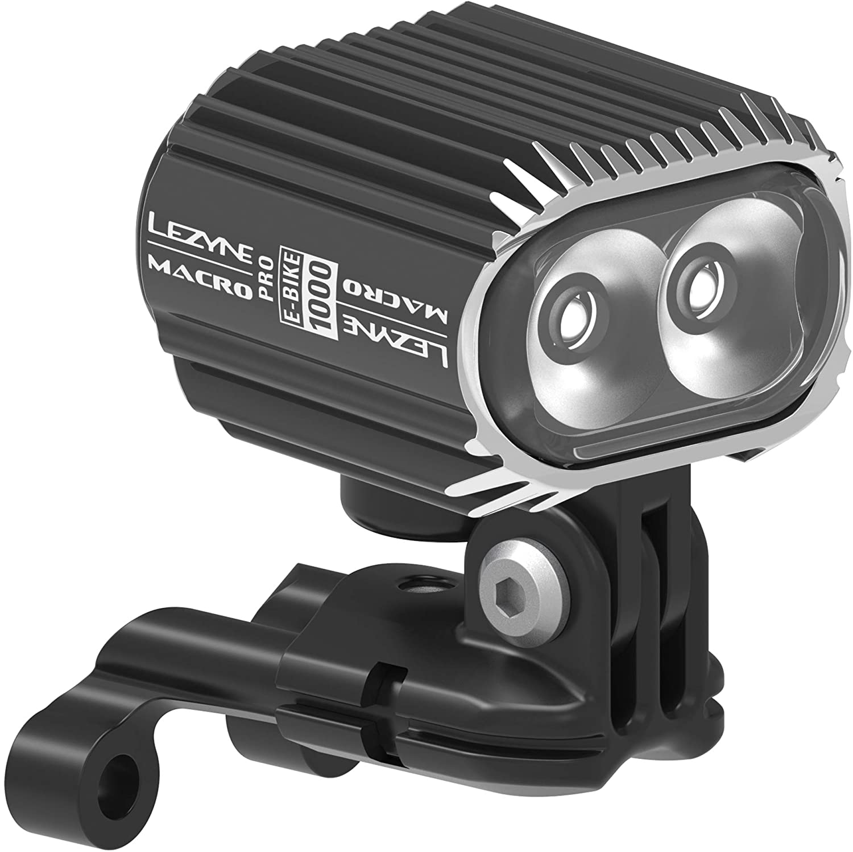 Electric Bike Light 1000 Lumens LEZYNE Macro Drive 100 Auto Dim 6-12v Input Head Light for eBikes
