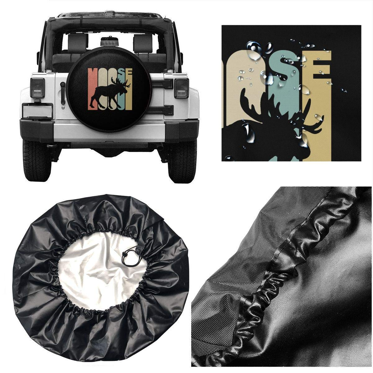 Ksiwre Reifentaschen Autor/ädertaschen,Unisex Tire Cover Jeep Trailer RV SUV Tire Cover Waterproof National Park