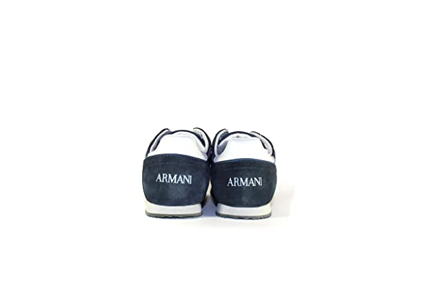 d41824d6bcb270 Armani Junior BOY Sneaker Shoes Casual Free TIME Code A4593 - B4594   Amazon.co.uk  Shoes   Bags