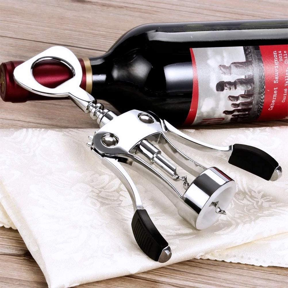 nuoshen Wine Corkscrew,All-in-one Wine Beer Bottle Opener Premium Wine Corkscrew Wine Opener with Stopper for Kitchen Restaurant and Bars