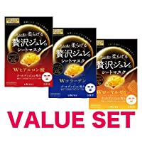 PREMIUM PUReSA facial sheet mask(W collagen,hyaluronic acid,W Royal Jelly)33gx 3sheets...