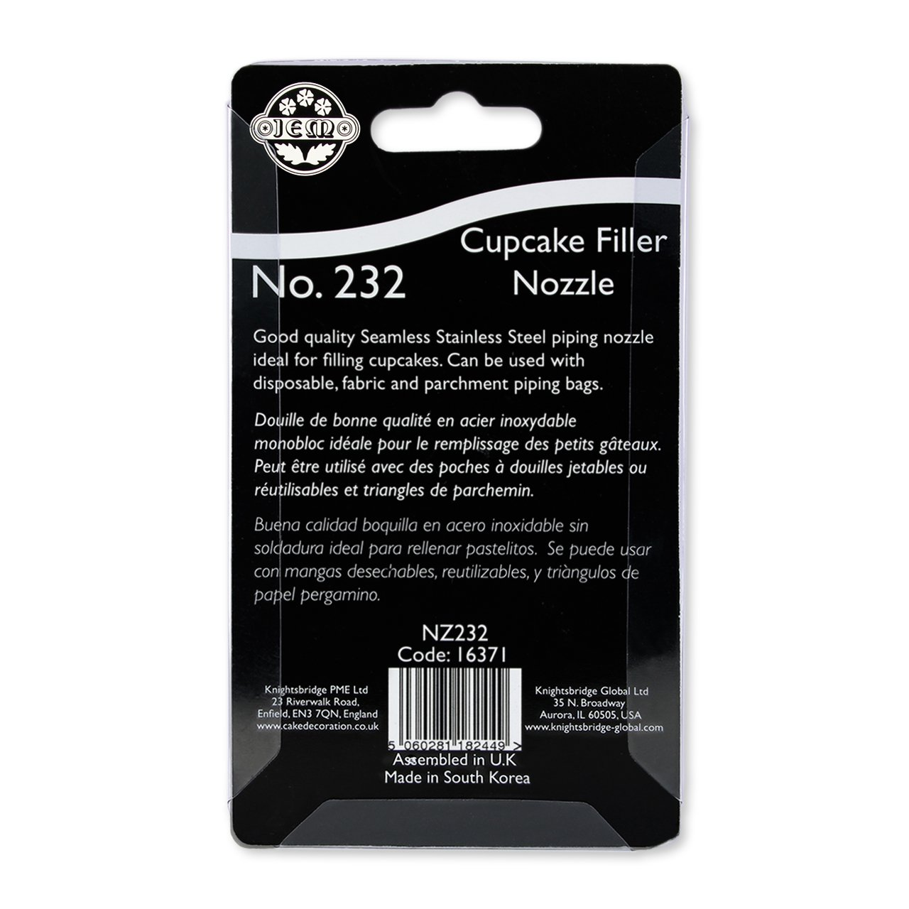 Amazon.com: JEM Cupcake/Doughnut Filler Tube Nozzle #232 Decorating Tip Standard Silver: Cake Testers: Kitchen & Dining