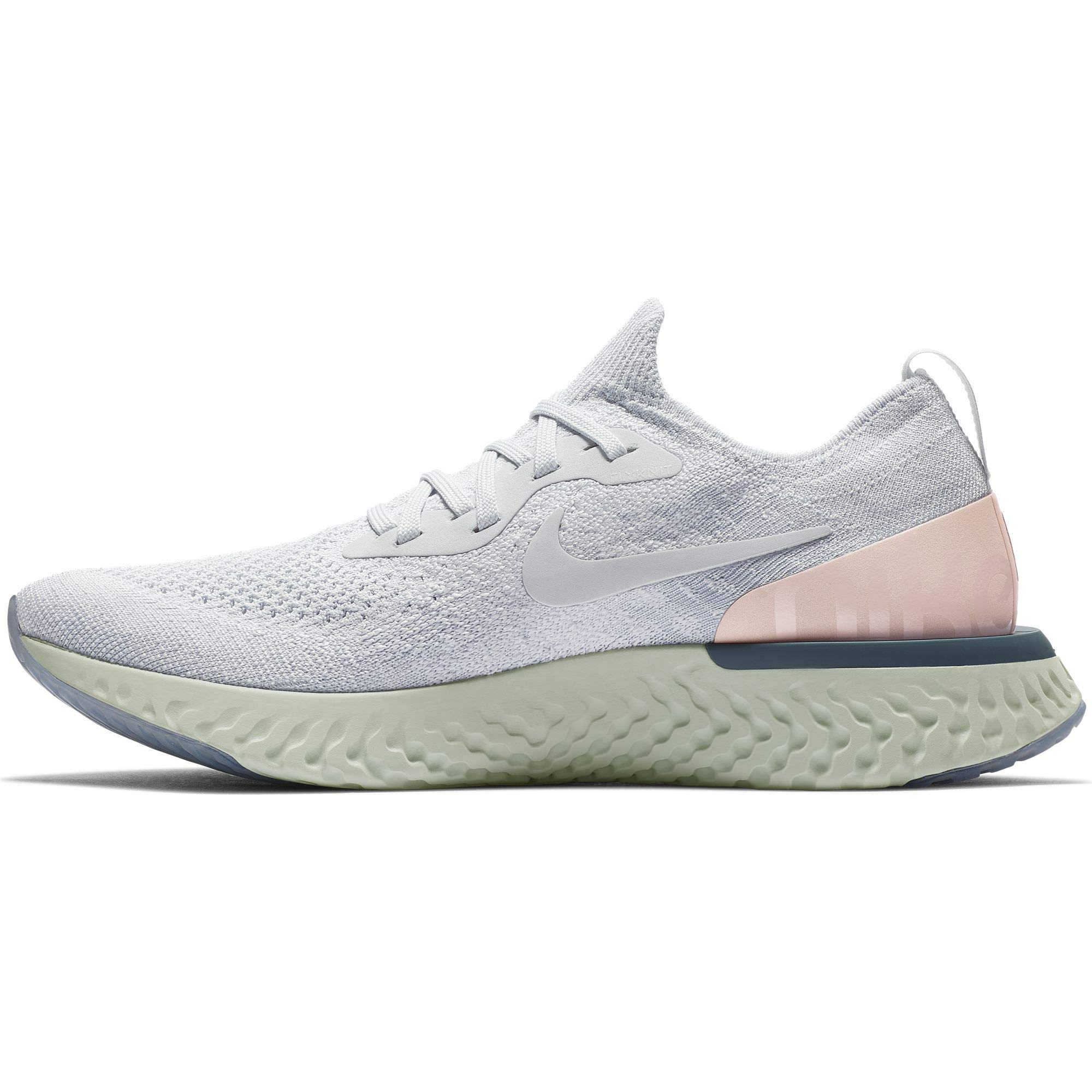 separation shoes 1fec6 99020 NIKE Epic React Flyknit Women s Running Shoe Pure Platinum Pure Platinum  11.0