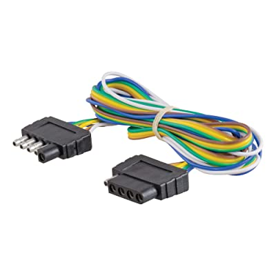 CURT 58550 Vehicle-Side and Trailer-Side 5-Pin Trailer Wiring Harness with 72-Inch Wires, 5-Wire Trailer Wiring: Automotive