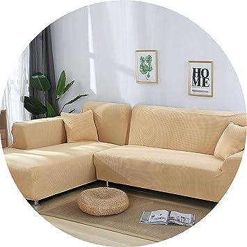 Amazon.com: Little-Kiwi - 2 fundas para sofá con forma de L ...
