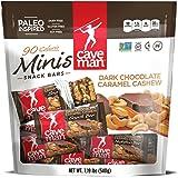 Caveman Dark Chocolate Caramel Cashew Minis 1.19lb bag