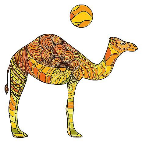 Pegatina de pared Salón Camello con estampado frío Oriente ...